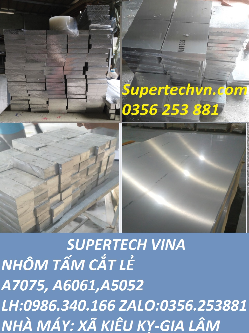 Giá Nhôm Nguyên Tấm, Cắt Lẻ A6061 | 0986340166